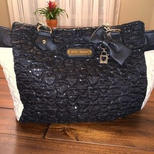 Betsey Johnson Black & White Handbag